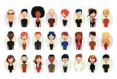 Business,Smiling,Adult,Cut Out,Bundle,Illustration,Women,Businessman,Businesswoman,Vector,Characters,2015,Avatar,