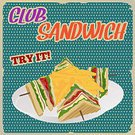 Food,Square,Lunch,Advertisement,Illustration,Club Sandwich,No People,2015