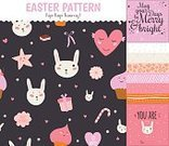Food,Romance,Candy,Cookie,Cake,Animal,Animal Markings,Cooking,Bakery,Easter,Pattern,Textile,Fruit,Greeting,Decoration,Backgrounds,Refreshment,Dessert,Muffin,Cute,Ornate,Baked Pastry Item,Illustration,Celebration,Easter Cake,Gourmet,Vector,Cupcake,Scrapbook,Background,2015,Seamless Pattern,