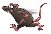 Defeat,Danger,Humor,Animal,Running,Animals In The Wild,Rodent,Rat,Gray Hair,Fun,Fear,Cut Out,Illustration,Spooky,Cartoon,Vector,Unhygienic,Characters,2015,Gnawer