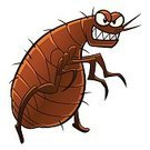 Danger,Humor,Animal,Insect,Fun,Bloodsucking,Flea - Insect,Cut Out,Illustration,Evil,Spooky,Cartoon,Pest,Vector,Pets,Characters,Parasitic,2015