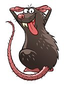 Danger,Humor,Animal,Animals In The Wild,Rodent,Rat,Gray Hair,Fun,Cut Out,Illustration,Spooky,Cartoon,Pest,Cruel,Vector,Unhygienic,Characters,2015,Gnawer