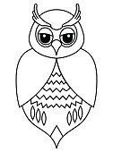 Feather,Symbol,Nature,Animal Wildlife,Animal,Animal Markings,Animal Body Part,Animal Eye,Bird,Pattern,Owl,Small,Cute,Illustration,Cartoon,Vector,2015,61814