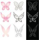 Butterfly - Insect,Artificial Wing,Wing,Pink Color,Cute,Softness,Mystery,Spirituality,Insect,Pair,Flying,Insects,Nature Symbols/Metaphors,Vector Cartoons,Nature,Animals And Pets,Spreading,Flapping,Wind,Illustrations And Vector Art