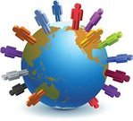 People,Globe - Man Made Object,Computer Network,Earth,World Map,Competition,Multi-Ethnic Group,Business,Communication,Global Communications,Planet - Space,Global Business,Cooperation,Organized Group,Ethnicity,Sphere,Diagram,International Landmark,Ethnic,Teamwork,Vector,Ilustration,Business Relationship,Business Travel,Isolated On White