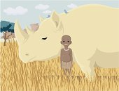 Africa,Rhinoceros,African Descent,Little Boys,Cattle,blackman,Veldt,Bush,Animal,Indigenous Culture,blackamoor,Smiling,People,Animals And Pets,illustrate,Violence,Brown,Nature,Wild Animals,Nature Abstract,Nature,Happiness,Slow,Zoo,ponderous,Bird,Heavy