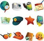 Travel,Map,Symbol,Icon Set,Calendar,Safari,People,Mobile Phone,Photography,Camera - Photographic Equipment,Cartography,Journey,Photo Album,Cultures,Vacations,Tourism,Road Trip,Business Travel,Starfish,Vector,Hat,Fedora,Photography Themes,Holiday,Business,Sailing,Communication,Travel Destinations,Camera Film,Global Communications,Ilustration,Isolated Objects,Travel Locations,Illustrations And Vector Art,Icon Symbol