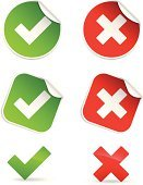Check Mark,OK,Symbol,Cross Shape,Green Color,Computer Icon,Label,Security System,Icon Set,Removing,Vector,Push Button,Add,Interface Icons,Badge,Red,proceed,Shiny,Unchecked,Computer Graphic,Ilustration,Vector Icons,Illustrations And Vector Art,Digitally Generated Image
