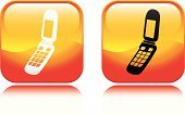 Mobile Phone,Telephone,Flip Phone,Vector,Symbol,Orange Color,Heat - Temperature,Telecommunications Equipment,Headset,Computer Icon,Communication,Global Communications,Square Shape,Concepts And Ideas,Design Element,Isolated Objects,Design,Illustrations And Vector Art,Vector Icons,Interface Icons,Hands-free Device,Red,Shiny,Yellow