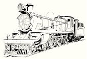 Train,Steam Train,Locomotive,Old,Steam,Railroad Track,Old-fashioned,Engine,India,Vector,Ilustration,Transportation,History,Wheel,Lighting Equipment,Obsolete,Boiler,Smoke - Physical Structure,Technology,Passenger,Mode of Transport,Metal,Iron - Metal,Social History,Transportation,Illustrations And Vector Art,Red