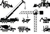 Crane - Construction Machinery,Construction Industry,Forklift,Truck,Dump Truck,Bulldozer,Icon Set,Stick Figure,Construction Worker,Mobile Crane,Cement Truck,Manual Worker,Occupation,Crane Operator,Ilustration,Driving,Simplicity,Excavation Vehicle,Black Color,Concepts,Teamwork,Information Symbol,Tower Crane,Accessibility,Illustrations And Vector Art,Construction,Mid Adult Men,Transportation,Vector Icons,Industry,Telescopic Crane
