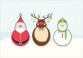 Christmas,Santa Claus,Snowman,Reindeer,Winter,Cartoon,Christmas Ornament,Christmas Decoration,Humor,Vector,Holiday,Cute,Characters,Rudolph The Red-nosed Reindeer,Snowflake,Backgrounds,Hat,Computer Graphic,Ilustration,Cheerful,Scarf,Design,Icon Set,Funky,Clip Art,Three Objects,January,Antler,Cold - Termperature,Snowing,Ideas,Happiness,December,Inspiration,Joy,Season,Digitally Generated Image,Horizontal,yuletide,happy holiday,Paper Product,Concepts And Ideas,vector illustration,Christmas,Holidays And Celebrations,Illustrations And Vector Art