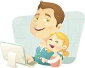 Father,Child,Cartoon,Computer,Men,Parent,Little Girls,Vector,Characters,Internet,Ilustration,Domestic Life,Cute,Smiling,Communication,Clip Art,Male Beauty,Living Room,Desktop PC,Beautiful,Blond Hair,Global Communications,Multi Colored,Enjoyment,Joy,Technology,Concepts And Ideas,Communication,Modern Life,Computers