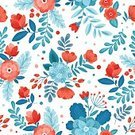 Computer Graphics,Decor,Simplicity,Nature,Design,Drawing - Art Product,Colors,Blue,Pink Color,Pattern,Modern,Textile,Flower,Branch,Springtime,Summer,Decoration,Backgrounds,Beauty,Repetition,Fun,Computer Graphic,Art And Craft,Art,Cute,Ornate,Illustration,Vector,Pastel Colored,Retro Styled,Print,2015,ditsy,Seamless Pattern