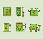 Symbol,Recycling,Environment,Nature,Car,Leaf,Light Bulb,Battery,Illustration,Environmental Conservation,No People,Vector,Collection,2015,Antipollution