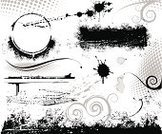 Grunge,Frame,Vector,Design Element,Banner,Abstract,Design,Textured,Splattered,Spray,Ilustration,Black Color,Scroll Shape,Photography,Halftone Pattern,Brush Stroke,Black And White,Stained,No People,Horizontal,Black Border,Grained,Arts Backgrounds,Arts And Entertainment,Vector Ornaments,Vector Backgrounds,Illustrations And Vector Art