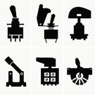 Switching,Equipment,Symbol,Beginnings,Circuit Board,Silhouette,Switch,Computer Icon,Drinking Glass,Illustration,Handle,Remote,Regulator,No People,Vector,Electricity,Fuel and Power Generation,Collection,Toggle,Trigger,Single Object,2015,81352,Icon Set,60024