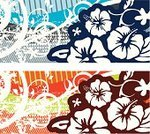 Hibiscus,Tropical Flower,Spray,Floral Pattern,Flower,Backgrounds,Splattered,Dirty,Grunge,Leaf,Scratched,Illustrations And Vector Art,Lush Foliage,Stained,Curled Up
