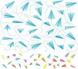 Symbol,Freedom,Toy,Business,Airplane,Flying,Colors,White Color,Paper,Wind,Childhood,Leisure Games,Playing,Cut Out,Color Image,Paper Airplane,Origami,Illustration,Vector,Lightweight,Sparse,2015,Lightweight,Color Gradient