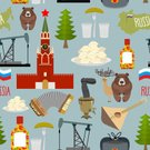 Russia,Backgrounds,Symbol,Food,Russian Nesting Doll,Architecture,National Landmark,Pattern,Seamless,Accordion,Abstract,Cathedral,History,Cultures,Women,Vector,People,Samovar,Shape,Red,spasskaya,Doll,Church,Clock,Tower,Kremlin,Decoration,Illustration
