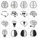 People,Symbol,Sign,Creativity,Contemplation,Business,Education,Science,Human Body Part,Human Head,Human Internal Organ,Human Brain,Computer Icon,Intelligence,Light Bulb,Abstract,Illustration,Left Handed,Vector,Anatomy,Right,2015,Biomedical Illustration,Icon Set,61883