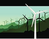 Wind Turbine,Wind Power,Alternative Energy,Energy,Electricity,Power,Silhouette,Green Color,Vector,Environment,Fuel and Power Generation,Environmental Conservation,Scenics,Non-Urban Scene,Horizon,Power Supply,Rural Scene,Blue,Diminishing Perspective,Nature,Generator,Landscape,Ilustration,Sky,Sierra,Turquoise,Physical Geography,Back Lit,Tranquil Scene,Outdoors,Horizontal,Color Image,Heavy Industry,Landscapes,Nature,Illustrations And Vector Art,Industry,green environment,mountain vista,nature conservation,mountain scenic,No People,Horizon Over Land,Vector Cartoons