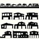 House,Silhouette,Community,Residential Structure,Residential District,Suburb,Street,Vector,Window,Ilustration,Computer Graphic,subdivision,Clip Art,Homes,Isolated Objects,Isolated On White,Illustrations And Vector Art,Architecture And Buildings