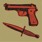 Knife,Handgun,Dagger,Crime,Weapon,Violence,Grunge,Vector,Ilustration,Single Object,Failure,Vector Icons,Isolated Objects,Concepts And Ideas,No People,Illustrations And Vector Art
