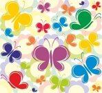 Vector,Wallpaper,Colored Background,Insect,Animal,Infinity,Seamless,In Bloom,Wildflower,Butterfly - Insect,Backgrounds,Flower