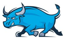 Concepts & Topics,Aggression,268399,Characters,Animal,Blue,Horned,Cow,Cartoon,Illustration,Taurus,Mascot,2015,Run,Running,Aubusson,Wild Cattle,Jogging,Clip Art,Bull Market,Character,Concepts,Vector,Bull - Animal,Design Element,Digitally Generated Image
