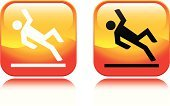 Slippery,Falling,Safety,Symbol,Computer Icon,Wet,slippery when wet,Warning Sign,Orange Color,Heat - Temperature,Square Shape,Vector,Concepts And Ideas,Isolated Objects,Yellow,Illustrations And Vector Art,Interface Icons,Vector Icons,Design Element,Design,Shiny,Red
