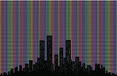 Built Structure,Symbol,Freedom,Cityscape,Urban Skyline,Back Lit,Homosexual,Tower,Multi Colored,Pattern,Cloud - Sky,Bubble,Day,Night,Silhouette,California,San Francisco - California,New York City,Manhattan - New York City,Backgrounds,Scenics,Skyscraper,Color Image,Illustration,Pop Art,Weekend Activities,Looking Through Window,Cloudscape,Half Tone,Looking At View,No People,Building Exterior,Vector,Nightlife,Saturday,Rainbow Flag