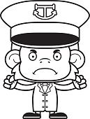 cartoon angry boat captain monkey stock vectors 365psd Angry Pirate Clip Art puter graphics anger hat furious displeased animal frowning navy