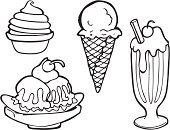 Ice Cream,Milkshake,Dessert,Ice Cream Cone,Frozen Yogurt,Cream,Banana Split,Banana,Food,Sketch,Line Art,Snack,Ice Cream Soda,Cup,Vector,Sweet Food,Drink,Cherry,Computer Icon,Symbol,Melting,Ilustration,Gourmet,Take Out Food,Art,yummy,Slush,Cold - Termperature,Dessert Topping,Summer,Indulgence,Drop,Unhealthy Eating,Frothy Drink,Non-alcoholic Beverage,Food And Drink,Drinking Straw,Junk Food/Fast Food,Illustrations And Vector Art,Nature,Summer,Vector Icons