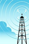 Communications Tower,Radio,Tower,Vector,Cartoon,Broadcasting,Radio Wave,Telecommunications Equipment,Communication,Wireless Technology,Electricity,Global Communications,shortwave,Technology,Frequency,Computer Graphic,Ilustration,emanating,Single Object,contacting,Business,Business Concepts,Equipment,Communications Technology,Technology,Posing,Gesturing
