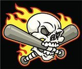Human Skull,Baseball - Sport,Mascot,Flame,Baseball Bat,Baseballs,Fire - Natural Phenomenon,Human Bone,Vector,Design,Violence,Displeased,Isolated,Anger,Human Jaw Bone,Aggression,Furious,Team Sports,Extreme Sports,Character Traits,Concepts And Ideas,Ilustration,Sports And Fitness