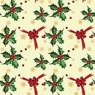 Christmas,Holly,Pattern,Seamless,Repetition,Ribbon,Snowflake,Holiday,Vector,Ilustration,Vector Backgrounds,Wallpaper Pattern,Christmas,Holidays And Celebrations,Clip Art,Illustrations And Vector Art,Bow
