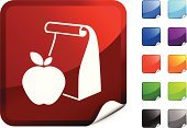 Packed Lunch,Paper Bag,Symbol,Apple - Fruit,Computer Icon,Vitamin Pill,Education,Food And Drink,Label,Food,Rolled Up,Fruit,Healthy Eating,Computer Graphic,Design,Green Color,Purple,Ilustration,Snack,Digitally Generated Image,Red,Vector,Shiny,Black Color,Blue,Orange Color