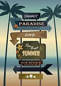 Adventure,Nature,Vacations,Party - Social Event,Hotel,Starfish,Tree,Summer,Night,Sea,Beach,Greeting,Arrow - Bow and Arrow,Illustration,No People,Vector,2015,Beach Party,Paradise - Book Title,