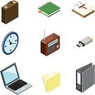 Isometric,Office Interior,Clock,Symbol,Radio,Computer Icon,Three-dimensional Shape,Ring Binder,USB Cable,Calendar,File,Briefcase,Icon Set,Laptop,Business,Equipment,Diary,Design Element,Vector,Internet,Interface Icons,Communication,web icon,Calendar Date,Adress Book,Business,Illustrations And Vector Art,Clip Art,Modern,Isolated-Background Objects,Vector Icons,Isolated Objects
