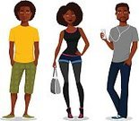 Brazilian,People,Clothing,Casual Clothing,Friendship,Individuality,Cool Attitude,Jeans,Shorts,Telephone,Mobile Phone,African-American Ethnicity,Summer,Purse,Beauty,Child,Teenager,Adult,Young Adult,Cut Out,Illustration,Cartoon,Afro,Men,Boys,Women,Teenage Girls,Vector,Characters,Fashion,Brazilian Ethnicity,African Ethnicity,Wireless Technology,Beautiful People,Arts Culture and Entertainment,2015,Fashionable,104872