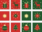 Reindeer,Christmas,Red,Green Color,Gold Colored,Christmas,Holidays And Celebrations,Snowflake,Star Shape,Gift