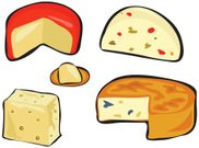 Cheese,Cheddar - Cheese,Ilustration,Clip Art,Variation,Dairy Product,Food,Edam,Icon Set,Herb,Snack,Isolated,Illustrations And Vector Art,spicey,Group of Objects,Merchandise,Meal