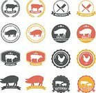 Computer Graphics,Food,Symbol,Sign,Freshness,Meat,Animal,Label,Farm,Restaurant,Cow,Sheep,Pig,Computer Graphic,Beef,Ham,Menu,Pork,Diagram,Illustration,Template,Butcher's Shop,No People,Vector,Merchandise,Collection,Domestic Cattle,Butchery,2015