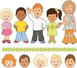 Child,Human Face,Little Boys,Little Girls,Multi-Ethnic Group,Toddler,Ethnic,Domestic Cat,Variation,African Descent,Asian Ethnicity,Group Of People,Latin American and Hispanic Ethnicity,Pets,Southern European Descent,Character Traits,Vector Cartoons,People,Caucasian Ethnicity,Concepts And Ideas,Illustrations And Vector Art