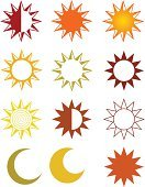 Sun,Moon,Sunlight,Symbol,Vector,Sign,Weather,Sunbeam,Heat - Temperature,Design,Suntan Lotion,Climate,Planet - Space,Order,Temperature,Bright,Illustrations And Vector Art,-