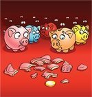 Cartoon,Pig,Currency,Fear,Forecasting,Finance,Law,Tax,Bribing,Humor,Home Finances,Savings,Thief,Vector,Protection,Terrified,Broken,Financial Occupation,Consumerism,Ilustration,Customer,expenses,Burglary,Number,Victim,Breaking,Caricature,Hopelessness,Crime,Coin,Destruction,Shock,Bank Account,Danger,Organized Group,Irony,Box - Container,Problems,Life,Actions,Illustrations And Vector Art,Serene People,Ideas,Concepts,Vector Cartoons,Modern Life,Hobbies,Bad News,splinters,Concepts And Ideas,Weakness,Horror,Vertical,Fragility,Social Issues
