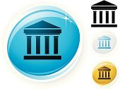 Architectural Column,Bank,Stability,Symbol,Roman,Computer Icon,Classical Greek,Finance,Investment,Push Button,Strength,Interface Icons,Ilustration,Stone Material,Gold,Vector,Blue,Computer Graphic,White,Internet,Colors,Circle,Shiny,Digitally Generated Image,White Background,No People,Color Image