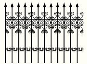 Fence,Iron - Metal,Gate,Wrought Iron,Metal,Ornate,Decoration,Vector,Pattern,Foundry,White,Gothic Style,Black Color,Design,Antique,Scroll Shape,filigree,Old-fashioned,Art Nouveau,Ilustration,flourishes,Swirl,Black And White,Holiday Backgrounds,Household Objects/Equipment,Objects/Equipment,Holidays And Celebrations,Halloween