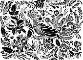 Floral Pattern,Pattern,Decoration,Bird,Vector,Wing,Ornate,Black And White,Black Color,Luxury,Computer Graphic,Leaf,Complexity,Design,Tree,Branch,Ilustration,Elegance,Art,Part Of,accent,Variation,Curled Up,Illustrations And Vector Art,Beauty